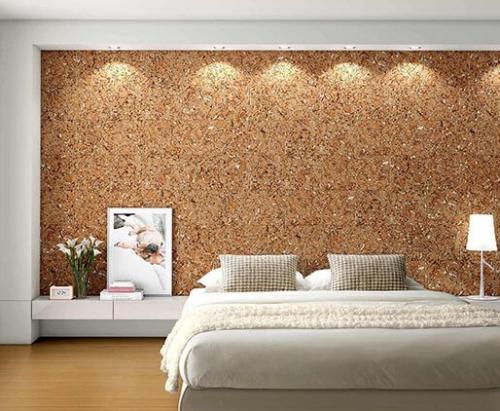pared corcho decorativo